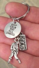 """The Walking Dead Key Chain """"Keep Calm & Kill Zombies"""" Us Seller Free Shipping"""