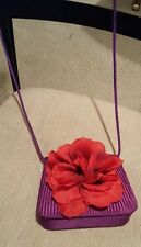 Red Hat Society Purse-purple with a red flower w/butterfly in middle.