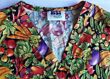 Comfy Extra Large (XL) Colorful Print, Nurse Uniform Pretty Scrub Top Cotton
