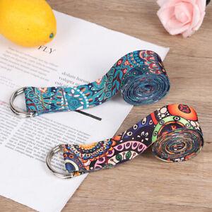 Yoga Strap Fitness Rope Colored Printed Adjustable Yoga Belt Washable StrapYUZY