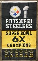 Pittsburgh Steelers NFL Super Bowl Championship Flag 3x5 ft Banner Flag Man-Cave