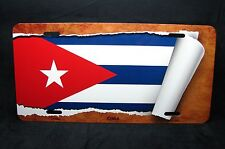 CUBA FLAG METAL ALUMINUM CAR LICENSE PLATE TAG