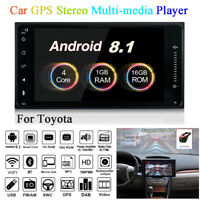 "7"" Android 8.1 2DIN 1080P Car GPS Quad Core 1+16GB Stereo MP5 Player for Toyota"
