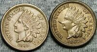 1860 and 1863 Copper Nickel Indian Cent Penny  ---- Type Coin ---- #S711