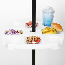 """Beach Umbrella Table Tray w/Cup Holders &Snack Compartments for Patio Garden 17"""""""