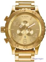 GENUINE New Nixon Watch 51-30 Chrono All Gold Men's A083502 A083-502 Dial NWT