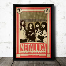 Metallica Rock Music Art Poster Heavy Metal Black Sabbath Led Zeppelin
