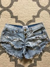 One Teaspoon Shorts Bonitas Size 25 Distressed EUC