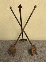 Unusual Folk Art Sculpture, or Stand - Three Arrows - Native Style? - Flower Pot