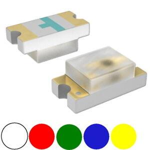 Lot de 10 pcs LED SMD CMS SMT 0603 0805 1206 Bleu Rouge Vert Jaune Blanc