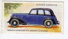 (Jr139-100) Players,Motor Cars 2nd,Morris Fourteen-Six Saloon,1937 #33