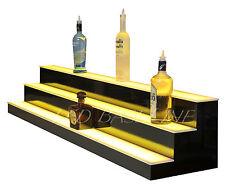 """52"""" LIGHTED BAR Shelf Color Changing Display Glass Liquor Bottles 3 Step"""