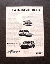 [GCG] I159- Advertising Pubblicità -1984- METRO CHALLENGE '84 , AUSTIN ROVER