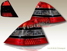 00-05 Mercedes Benz W220 S-CLASS LED RED SMOKE TAIL LIGHTS REAR LAMP ASSEMBLY