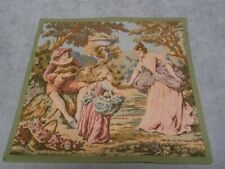 FRENCH Vintage Cotton TAPESTRY  marked FRANCE