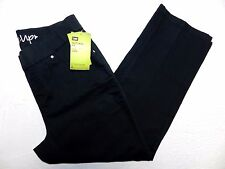 $54 NEW - WOMENS black pull on capri jeans PANTS = LEE style up = SIZE 4M = gp34