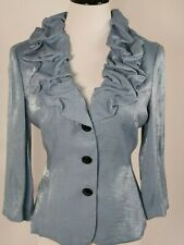 Adrianna Papell Evening Essentials Women's Blue Evening Jacket Size 10