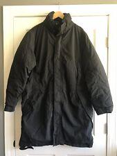 Eddie Bauer Premium Goose Down Parka Black Coat Mens XL