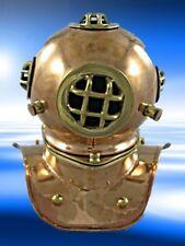 Tauherhelm Kupfer Messing Maritimes Geschenk vintage Tischdeko Nautika Dekoratio