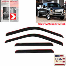 WTG Window Visor Vent Shade Guard 1999-2016 Ford F-250 F250 SuperCrew Crew Cab