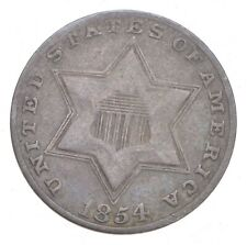 1854 Silver Three-Cent Piece - Trime - Jacobs Coin Collection *704