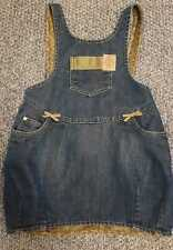 Christian Dior Baby Girls Denim Pinafore Dress Size 24m