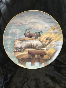 Limited Comical Cats Plate Cat Day Afternoon Gary Patterson Collectable Funny