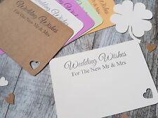 10 x WEDDING WISHES ADVICE CARDS FOR THE NEW MR & MRS.KEEPSAKE,HANDMADE, IVORY..