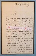 L.A.S 1869 Amable RICARD Niort Député Deux-Sèvres La Rochelle Lettre autographe