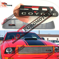 Black Front Grille 5.0 Coyote Badge Emblem For Ford Mustang Shelby F150 Boss 302