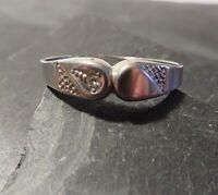 Eleganter 925 Silber Ring Zirkonia Sterling Struktur Lindner Schmuck Edel Chic