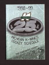 Kalamazoo Wings--1998-99 Pocket Schedule--Old Kent Bank--IHL