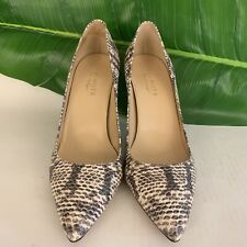 ce84df1d0810 Talbots Leather Animal Print Pointed Toe Pumps Heels Size 7W