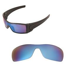 Walleva Mr.Shield Polarized Ice Blue  Replacement Lenses for Oakley Batwolf