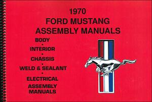 1970 Ford MUSTANG Montaje Manual Juego De 5 Libros En 1 Volumen