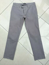 Sisley Grey Slim Fit Cotton Chino Trousers Waist 48 32 Great Condition
