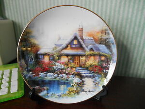 Royal Doulton limited edition fine bone china plate The Cottage on Rosetree Pond