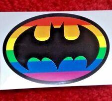 GAY BATMAN RAINBOW PRIDE BUMPER Sticker And 2 Free Rainbows