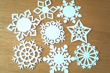25 Large White Christmas Snowflake Cut Outs- Various Colours/Patterns. Cardstock