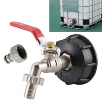 """New IBC Tank Adapter to 1/2"""" Lever Brass Garden Tap Valve Tap Outlets Fitting AU"""