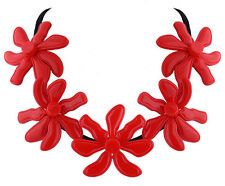 MARNI H&M Red Flower Pure Color Necklace