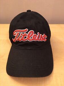 TITLEIST Golf Hat Black/Orange FJ Adjustable Back Youth
