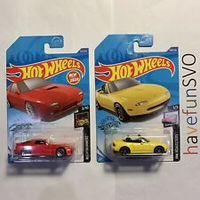 Hot Wheels 2020 '89 Mazda Savanna RX-7 FC3S & '91 Mazda MX-5 Miata (M Case)