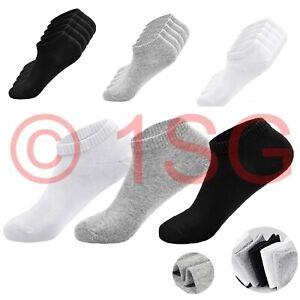 Men Women Trainer Liner Ankle Socks Cotton Rich Low Cut Sports Socks Size 5 - 11