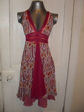 BNWOT Elle Would size 6 womens polyester purple patterned halterneck dress in EC