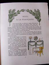 Noël à la Française / Manger Gazette Bon Ton  Noël 1913  Carlègle /B.de Monvel