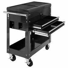 Black Mechanics Rolling Garage Tool Cart Sliding Top Storage Cabinet Organizer