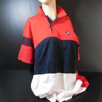 BRANGO 2005 sweet-shirt XXL manches courtes bleu blanc rouge femme homme N6199