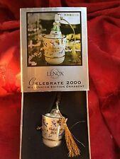 MIB FLAWLESS Stunning LENOX Celebrate 2000 KORBEL CHAMPAGNE Christmas Ornament