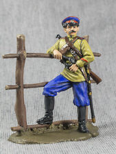 Civil War Metal Toy Soldiers Russian 1/32 White Cossack Officer Painted Tin 54mm
